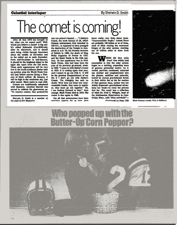 """纽约时报对科胡特克彗星的报道""""彗星就要来了"""""""