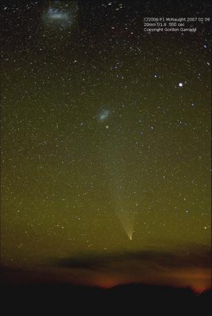 2月9日,澳大利亚的Garradd拍摄到的彗星,此时彗尾已经逐渐消散,彗星亮度回落