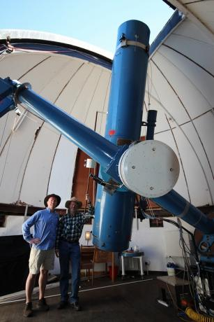 0.5米口径的乌普萨拉施密特式望远镜,造于1956年,1982年搬移到赛丁泉天文台。