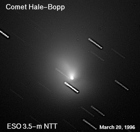 1996年3月20日,欧洲南方天文台3.5米的NTT望远镜拍摄到的彗星