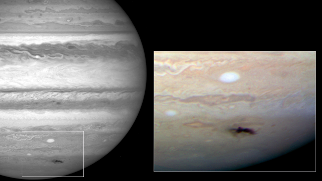 2009年7月24日,HST使用新换上的WFC3相机拍摄到木星遭受到新的小行星撞击。