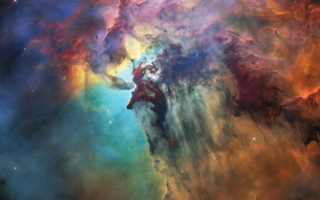 为了庆祝哈勃28岁生日而发布的礁湖星云的照片。
