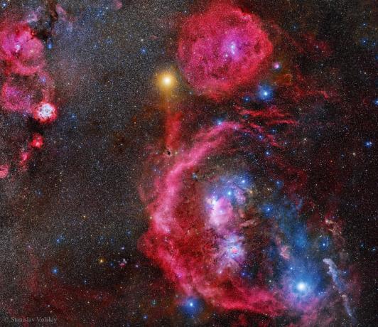 Stanislav Volskiy 累积曝光212个小时的猎户座,这里就是一个星云的集合体