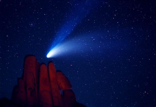 1997年4月6日,Pacholka拍摄于美国加利福尼亚州约书亚树国家公园的印第安湾露营地