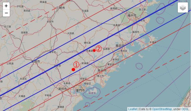 根据紫金山天文台的预报选定观测地点