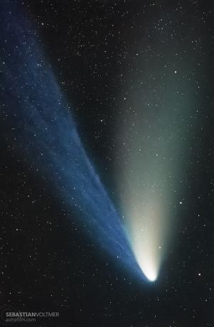 1997年4月11日,拍摄于德国的海尔波普彗星