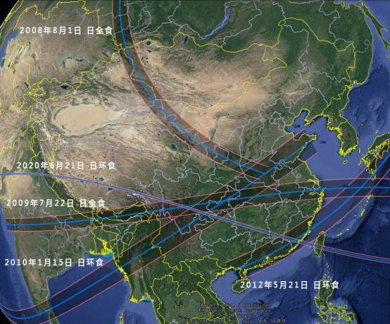 2009年7月22日日全食经过了我国的成都、重庆、武汉、南京、上海、杭州等大城市。
